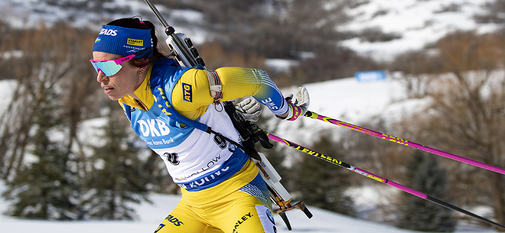 16.02.2019, Soldier Hollow, United States of America (USA):Elisabeth Hoegberg (SWE) -  IBU world cup biathlon, pursuit women, Soldier Hollow (USA). www.nordicfocus.com. © Manzoni/NordicFocus. Every downloaded picture is fee-liable.