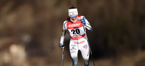 17.02.2019, Cogne, Italy (ITA):Frida Karlsson (SWE) - FIS world cup cross-country, 10km women, Cogne (ITA). www.nordicfocus.com. © Thibaut/NordicFocus. Every downloaded picture is fee-liable.