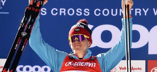 17.02.2019, Cogne, Italy (ITA):Alexander Bolshunov (RUS) - FIS world cup cross-country, 15km men, Cogne (ITA). www.nordicfocus.com. © Thibaut/NordicFocus. Every downloaded picture is fee-liable.