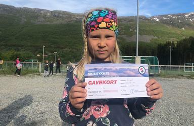 Matilde vant gavekort