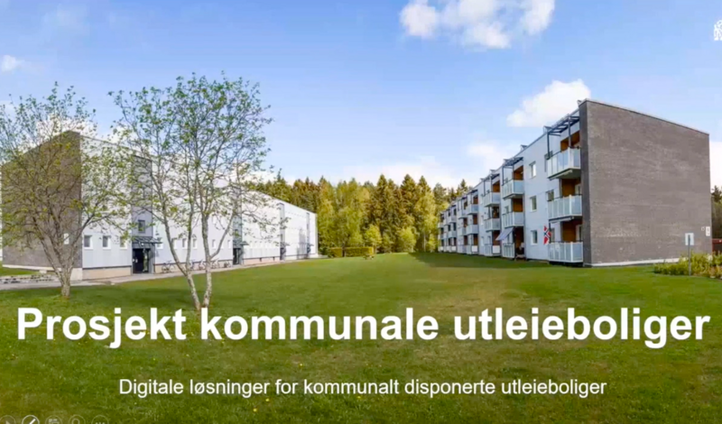 Foto: Fra presentasjonsvideo om Prosjekt Kobo - digitalt system for kommunale utleieboliger.