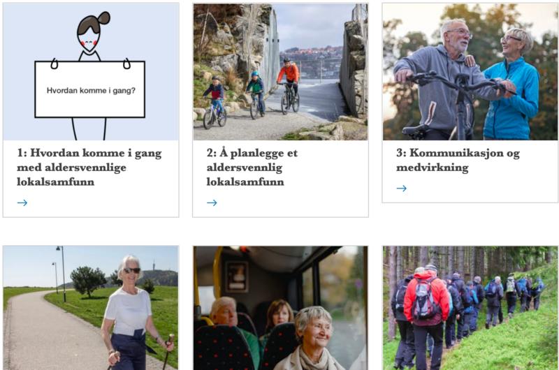 Ved å tilrettelegge for god kommunikasjon og medvirkning fra eldre innbyggere blir deres behov, innspill og deltagelse viktig i utviklingen av lokalsamfunn og kommunale tjenester. Foto: Fra forsiden av den digitale håndboken.