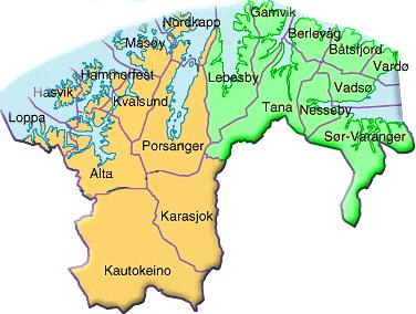 finnmark kart Kart Over øst Finnmark | Kart