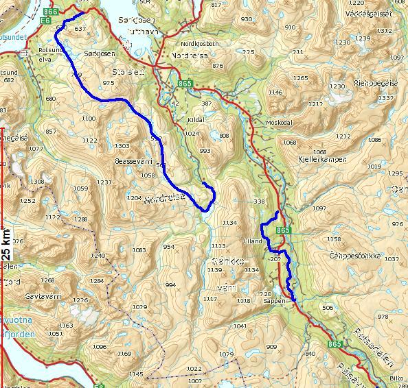 reisadalen kart Åpne skiløyper 2010   Nordreisa kommune reisadalen kart