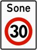 30 km/t illustrasjon, skilt