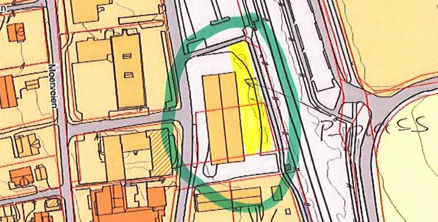 Illustrasjon til midlertidige parkeringsplasser i Brekkeveien