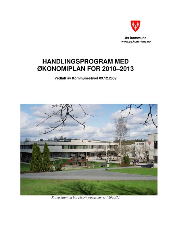 Handlingsprogram med økonomiplan 2010 - 2013 illustrasjon