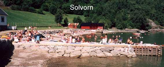 Badeplassen i Solvorn