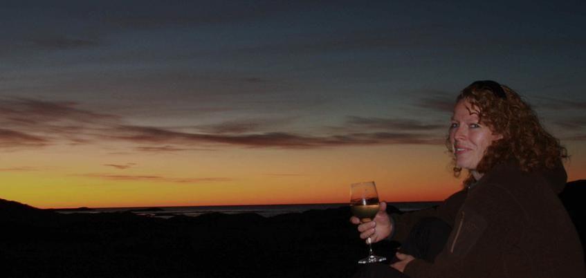Solnedgang med nogo attåt!
