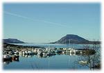 Utsikt over Flora hamn