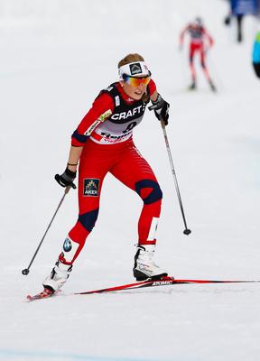 09.01.2011, Val di Fiemme, Italy (ITA): Marthe Kristoffersen (NOR), Atomic, Swix, Salomon - FIS world cup cross-country, tour de ski, final climb women, Val di Fiemme (ITA). www.nordicfocus.com. © Laiho/NordicFocus. Every downloaded picture is fee-liabl