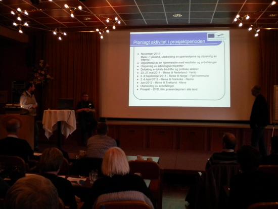 Gjennomføringsplanen for prosjektet vert presentert