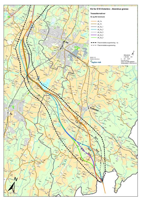 akseltrykk kart Her kan du se forslag til ny E18 gjennom Ås   Ås kommune akseltrykk kart