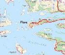 Kart over Flora kommune