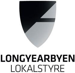 Longyearbyen lokalstyre logo med tekst under
