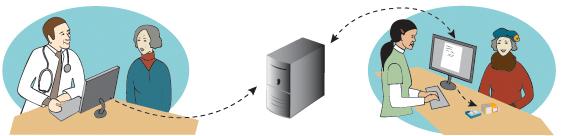 e-resept stor illustrasjon