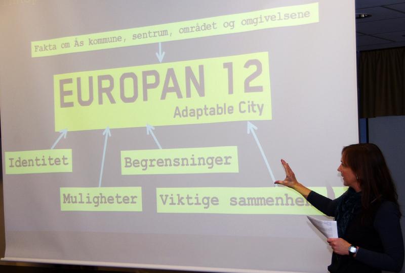 Plan- og utviklingssjef Cornelia Solheim innelder workshop Europan