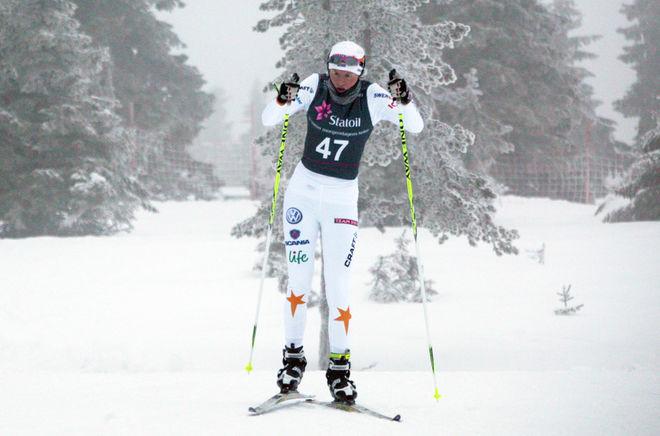 DOMNARVETs lovande junior Maja Dahlqvist fick prova på seniorklassen, vilket var en tuff övergång! Foto: KJELL-ERIK KRISTIANSEN