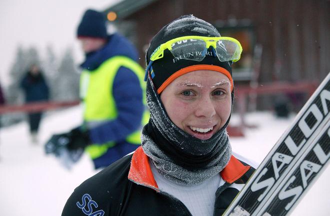 LINA KORSGREN med rim i ögonfransarna efter tävlingen. Foto: KJELL-ERIK KRISTIANSEN
