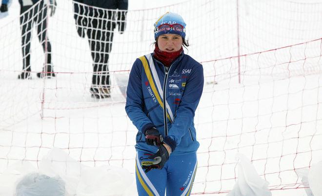 MOA MOLANDER KRISTIANSEN, Domnarvet var en av tre svenska juniorer som kämpade i det norska JVM-testet. Foto: KJELL-ERIK KRISTIANSEN