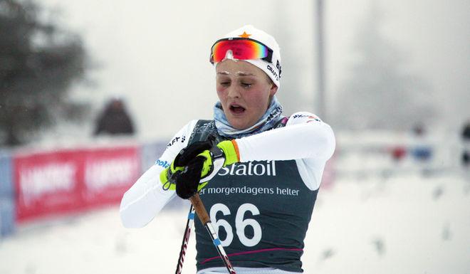 - KROPPEN FUNKADE inte som normalt, menade Stina Nilsson. Junioren funderar på att skippa söndagens tävling. Foto: KJELL-ERIK KRISTIANSEN