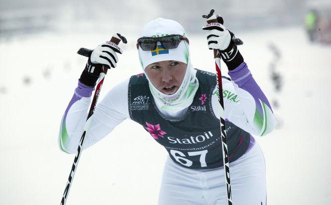 LÅNGLOPPSSPECIALISTEN Susanne Nyström tyckte också det var både kallt och jobbigt. Foto: KJELL-ERIK KRISTIANSEN