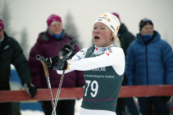 JONNA SUNDLING ser nästan förvånad ut över att hon grejat en stark 9:e plats. Foto: KJELL-ERIK KRISTIANSEN