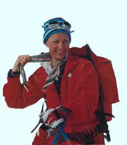 Fotografi av Dronningen på ski