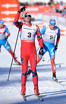 03.01.2013, Cortina-Toblach, Italy (ITA): Petter Northug (NOR)- FIS world cup cross-country, tour de ski, pursuit men, Cortina-Toblach (ITA). www.nordicfocus.com. © Felgenhauer/NordicFocus. Every downloaded picture is fee-liable.
