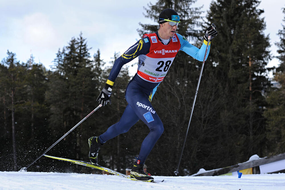 04.01.2013, Cortina-Toblach, Italy (ITA): Alexey Poltoranin (KAZ)- FIS world cup cross-country, tour de ski, 5km men, Cortina-Toblach (ITA). www.nordicfocus.com. © Felgenhauer/NordicFocus. Every downloaded picture is fee-liable.