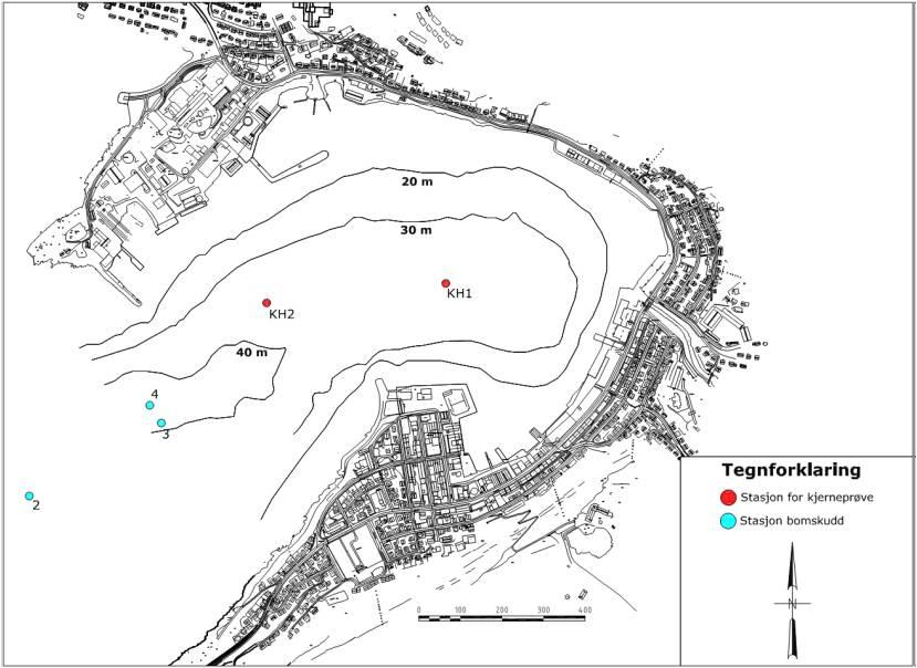 Datering og vurdering av sedimentkjerner fra Hammerfest Havn
