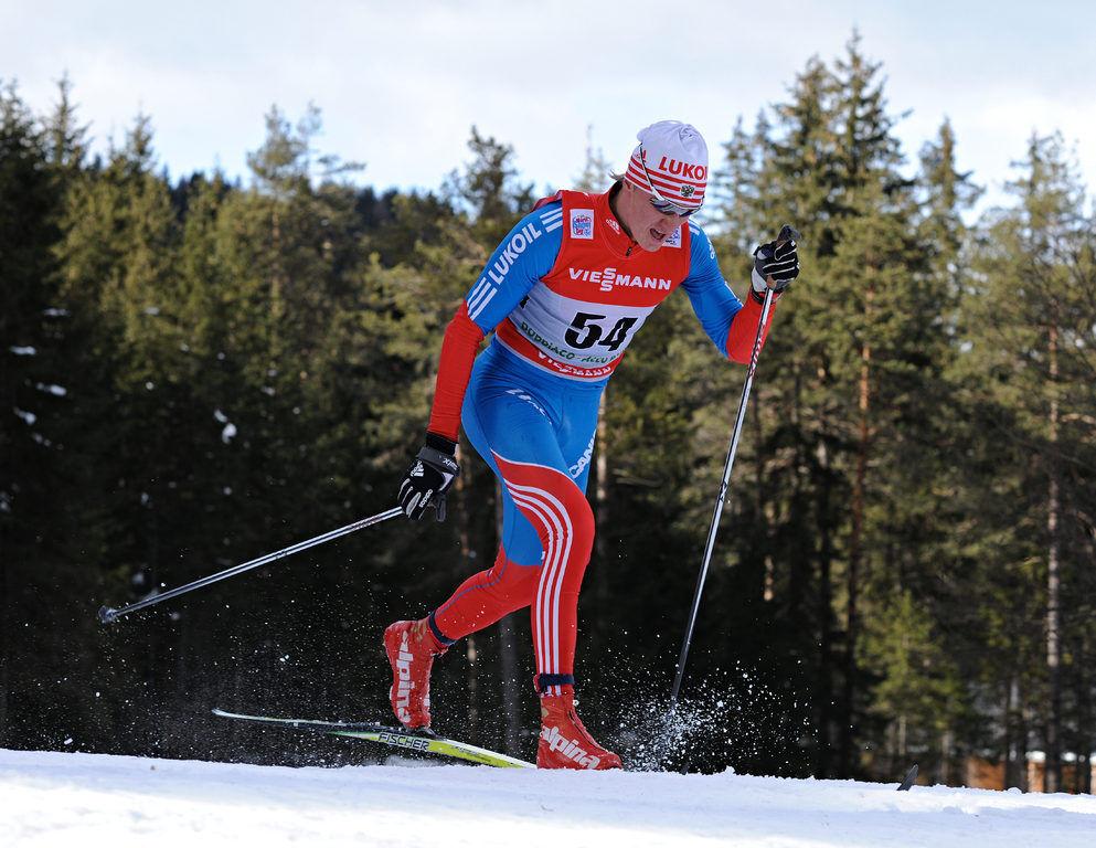 04.01.2013, Cortina-Toblach, Italy (ITA): Dmitriy Japarov (RUS)- FIS world cup cross-country, tour de ski, 5km men, Cortina-Toblach (ITA). www.nordicfocus.com. © Felgenhauer/NordicFocus. Every downloaded picture is fee-liable.