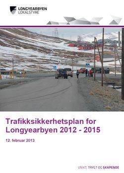 Trafikksikkerhetsplan forside