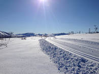 Fredag formiddag og Nerskogen Løypeforening har allerede vært i sporet
