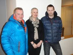 Frank Jakobsen, Marianne S Aasen og Jarle Berg Oksfjellelv