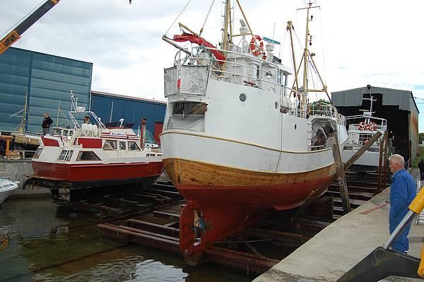 Mange fiskebåter har blitt satt opp på slippen Grindvika gjennom de siste 100 år.