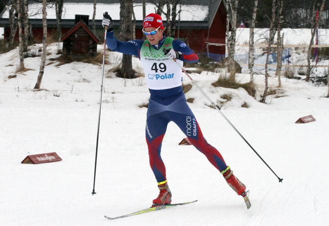 VICTOR GUSTAFSSON från IFK Mora vann första etappen av Tour de Ski China. Foto: THORD-ERIC NILSSON