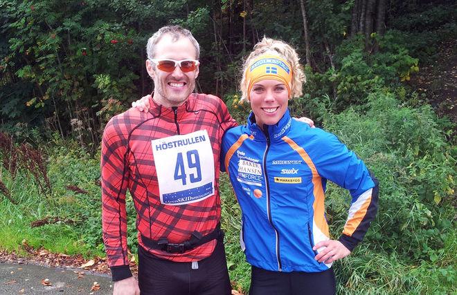 SEGRARE I Vårgårdarullen i helgen: Tobias Westman och Sandra Hansson. Dom båda vann också Höstrullen där den här bilden är tagen.