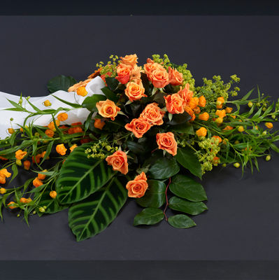 Interflora_kistedekorasjon_orange