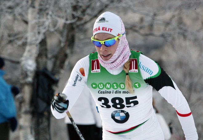 JENNIE ÖBERG, Piteå Elit kommer från Kalix och är tillbaka på sin gamla hemmaplan i helgens SM-tävlingar. Foto/rights: MARCELA HAVLOVA/sweski.com