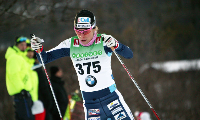 MARIA RYDQVIST gjorde ett bra lopp och vann D21 vid Team Sportia Cup-tävlingen i Östersund. Seniorklasserna körde fristil. Foto: MARCELA HAVLOVA