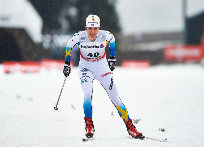 SARA LINDBORG hade lite otur i prologen i Oberhof och var 31:a. Alltså den första som inte gick vidare. Foto: NORDIC FOCUS