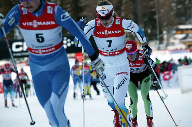 HANNA ERIKSON lägger av i en ålder av 26 år efter flere säsonger med skadeproblem. Här från Tour de Ski i Lenzerheide i Schweiz 2014. Foto/rights: MARCELA HAVLOVA/sweski.com