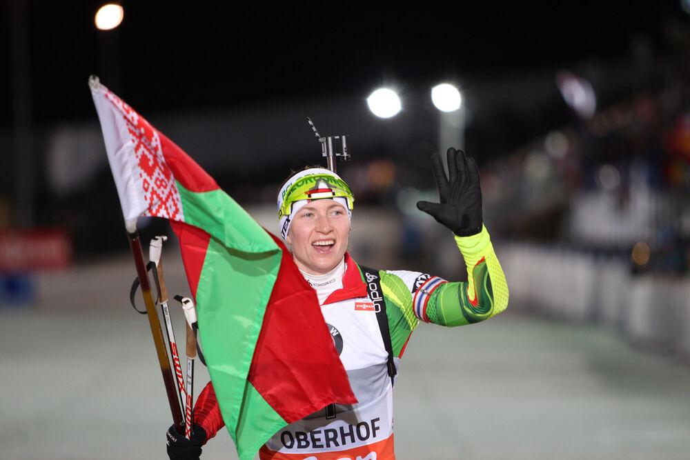 04.01.2014, Oberhof, Germany (GER): Darya Domracheva (BLR)- IBU world cup biathlon, pursuit women, Oberhof (GER). www.nordicfocus.com. © Manzoni/NordicFocus. Every downloaded picture is fee-liable.