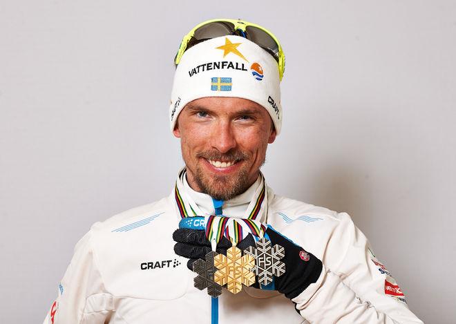 JOHAN OLSSON vann ett guld och två silver på VM i Val di Fiemme 2013. Vad kan han göra i dagens lopp över 15 km klassisk stil i Sochi? Foto: NORDIC FOCUS