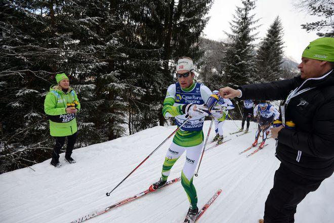 SIMEN ØSTENSEN, Team Centric på väg mot seger i Marcialonga 2014. Foto: NORDIC FOCUS