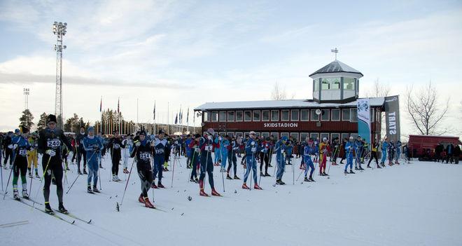 PÅ LÖRDAG är det dags igen för Jämtkraft Ski Marathon från skidstadion i Östersund. Foto: ARRANGÖREN