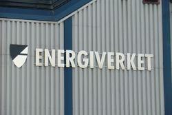 Navneskilt på veggen på Energiverket