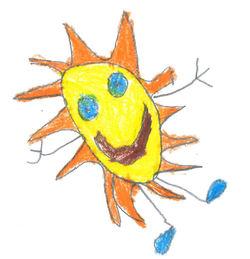 Soltegning 2014 av Nikolas Ottemo, 6 år (1. trinn ved Longyearbyen skole)