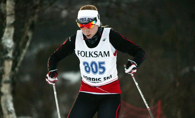 MOA OLSSON, Vansbro AIK stod för en härlig prestation då hon vann 5 km klassisk vid den nordiska juniorlandskampen i Rovaniemi! Foto: MARCELA HAVLOVA